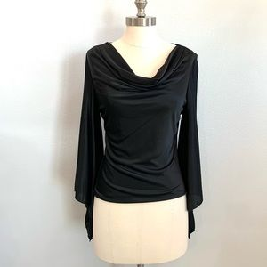 Express Black Flare Sleeve Blouse
